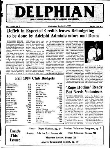 The Delphian, October 24, 1984