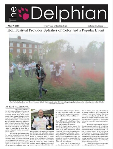 The Delphian, May 9, 2016