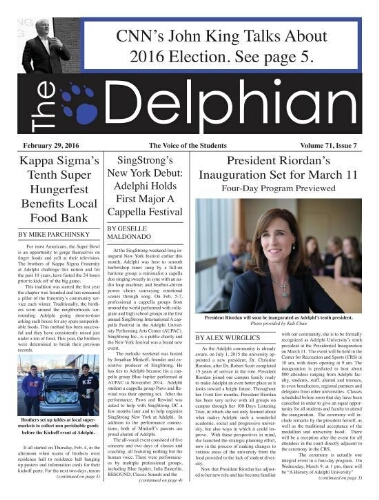 The Delphian, February 2, 2016