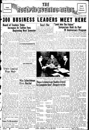 Adelphi Evening News 1954-11-22