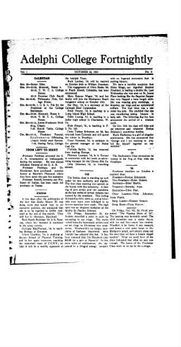 Fortnightly October 13, 1921
