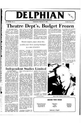 The Delphian, February 17, 1982