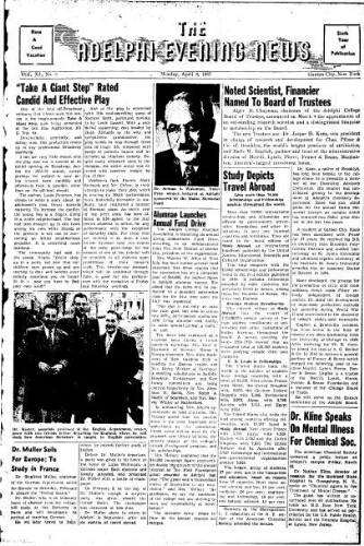Adelphi Evening News 1957-04-08