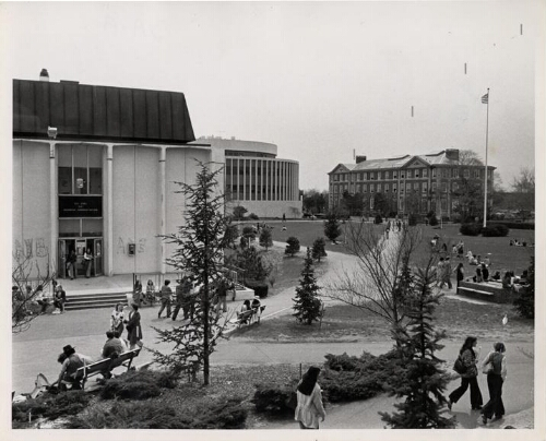 Adelphi campus looking southwest, 1978
