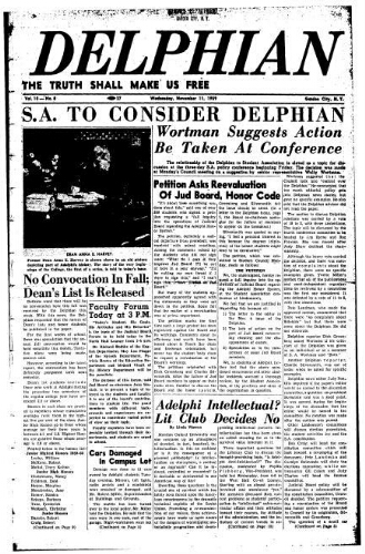 The Delphian, November 11, 1959