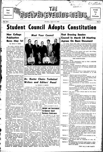Adelphi Evening News 1958-04-14