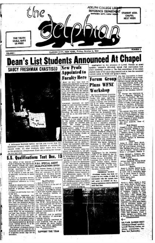 The Delphian, October 05, 1951