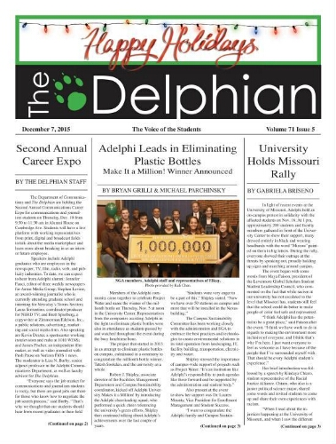 The Delphian, December 7, 2015