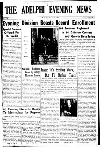 Adelphi Evening News 1951-12-12