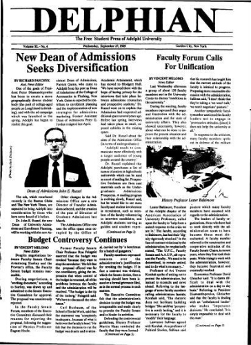 The Delphian, September 27, 1989