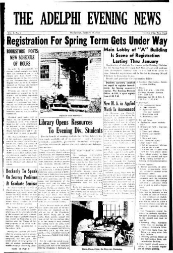Adelphi Evening News 1952-01-16