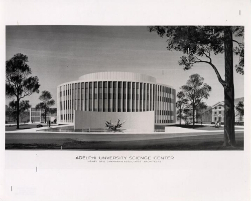 Science building, architectural rendering
