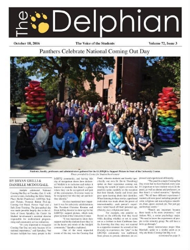 The Delphian, October 18, 2016