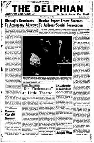 The Delphian, February 9, 1962