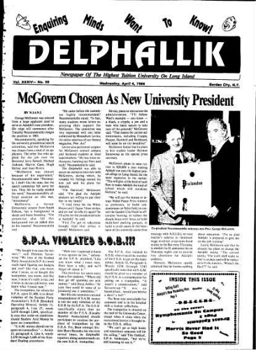 The Delphian, April 04, 1984