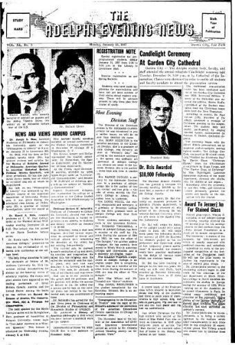 Adelphi Evening News 1957-01-21