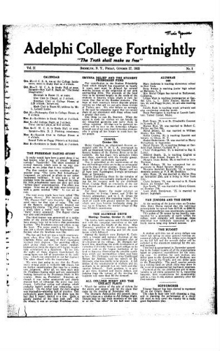 Fortnightly October 27, 1922