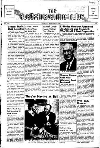 Adelphi Evening News 1961-02-16