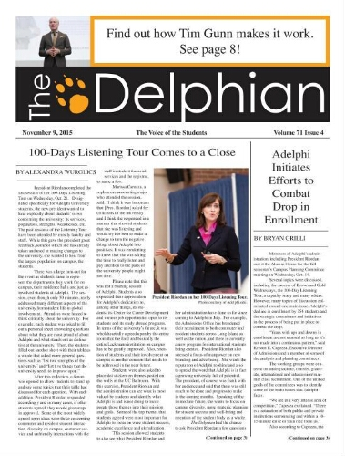 The Delphian, November 9, 2015