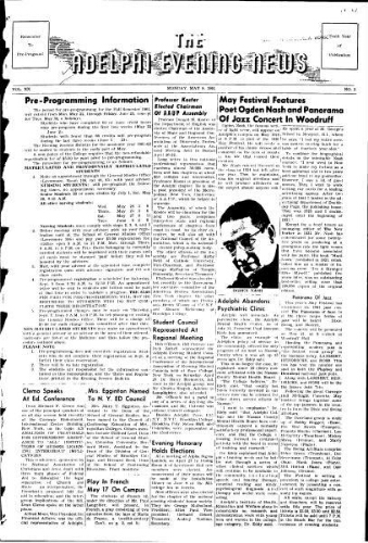 Adelphi Evening News 1961-05-08